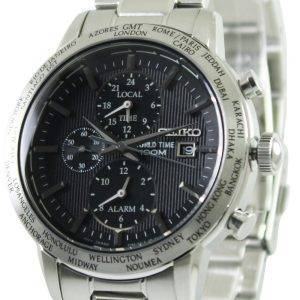 Seiko Alarm Chronograph World Time SPL049P1 SPL049P SPL049 Mens Watch