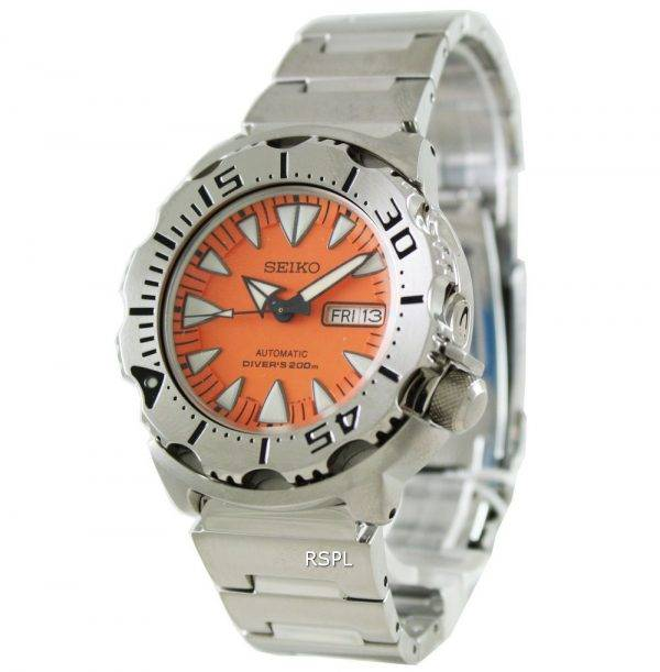 Seiko Automatic Monster Divers Orange Dial SRP309K1 SRP309K SRP309 Mens Watch