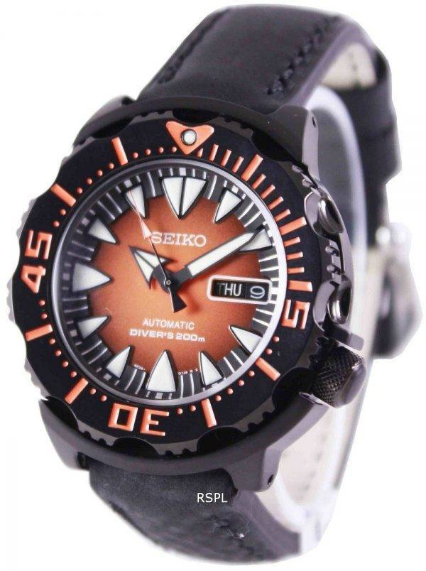 Seiko 5 Sports automatique Diver 200M Ratio en cuir noir SRP311K1-LS4 montre homme