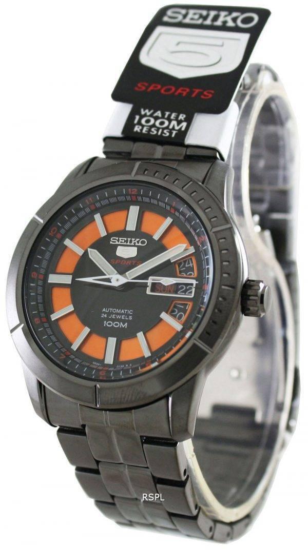 Seiko 5 Sports 24 Jewels Automatic100M SRP345K1 SRP345K SRP345 Mens Watch