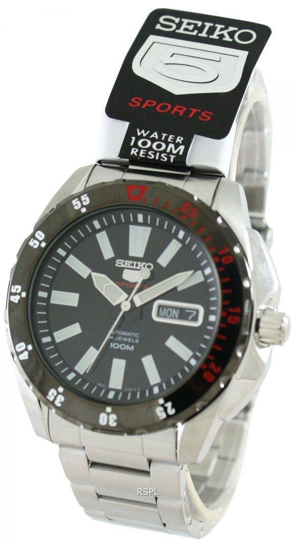 Seiko Mens 5 Sports Automatic 24 Jewels 100M SRP361K1 SRP361K SRP361 Watch