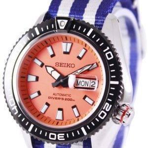 Montre 200M NATO bracelet SRP497K1-NATO2 masculine de plongée automatique Seiko supérieure