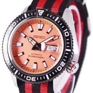 Montre 200M NATO bracelet SRP497K1-NATO3 masculine de plongée automatique Seiko supérieure