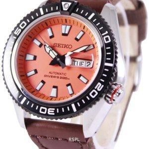 De plongée automatique Seiko supérieure 200M Nylon sangle SRP497K1-NS1 montre homme