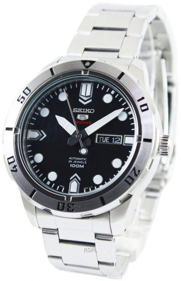 Seiko 5 Sports Automatic 24 Jewels 100M SRP671K1 SRP671K Mens Watch