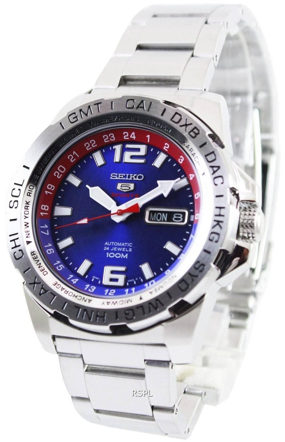 Seiko 5 Sports automatique 24 bijoux 100M SRP681K1 SRP681K hommes France 2bbe531d8cbf