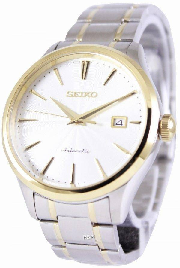 Seiko Automatic 100M White Dial SRP704K1 SRP704K Mens Watch