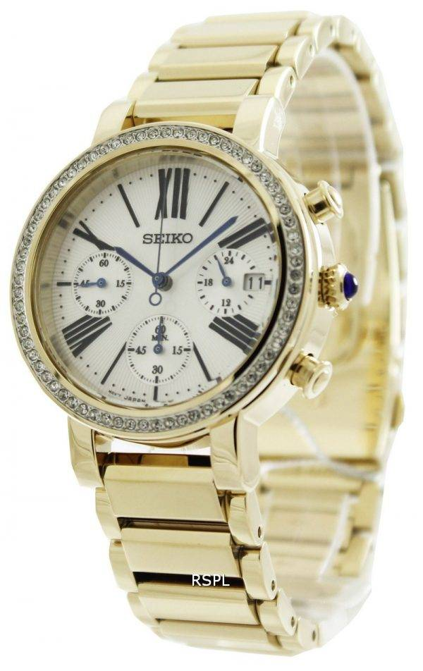 Seiko Chronograph Cabochon Crown SRW014P1 SRW014P SRW014 Womens Watch