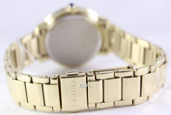 Seiko Quartz Swarovski Crystal Gold Plated SRZ454P1 SRZ454P Women's Watch