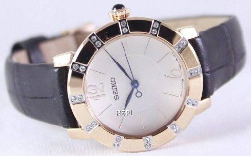 Seiko Quartz Swarovski Crystal rose Gold SRZ456P1 SRZ456P Women's Watch