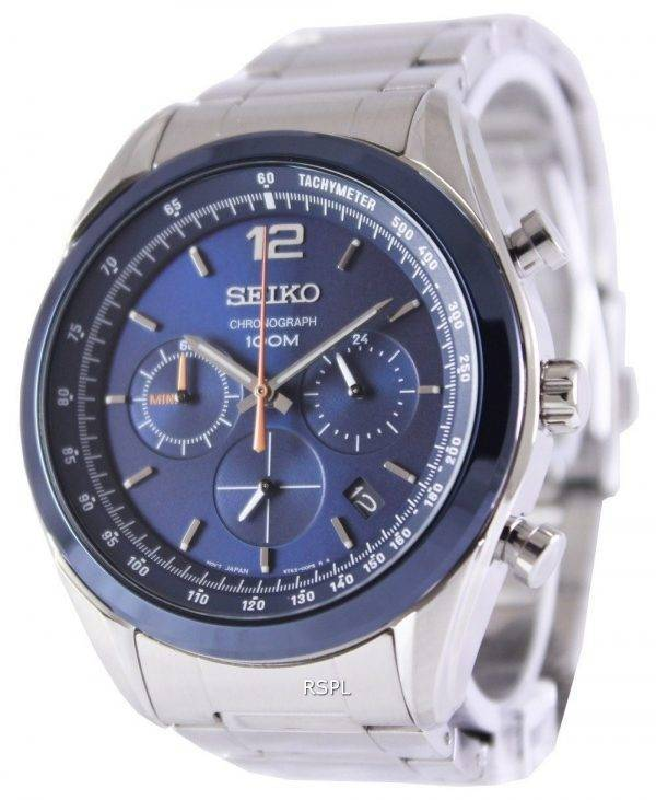Seiko Chronograph Quartz 100M SSB091P1 SSB091P Mens Watch