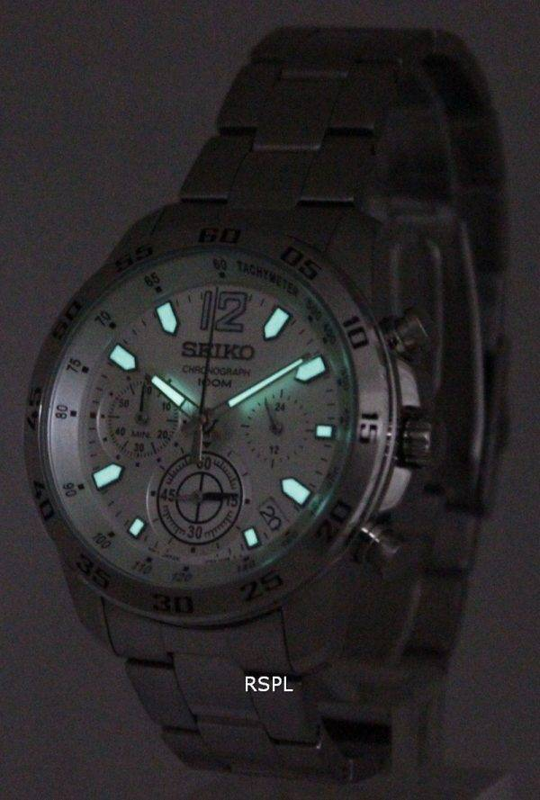 Seiko Neo Sports Chronograph SSB123P1 SSB123P SSB123 Mens Watch