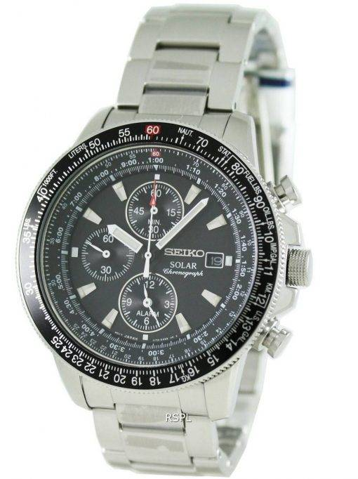 Solaire alarme chronographe Flightmaster SSC009P1 SSC009 SSC009P Mens Seiko pilote Watch