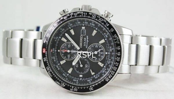 Solaire alarme chronographe Flightmaster SSC009P1 SSC009 SSC009P Mens Seiko pilote Watch