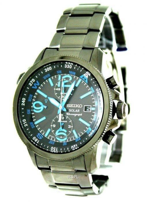 Seiko Solar Alarm Chronograph SSC079P1 SSC079 SSC079P Mens Watch