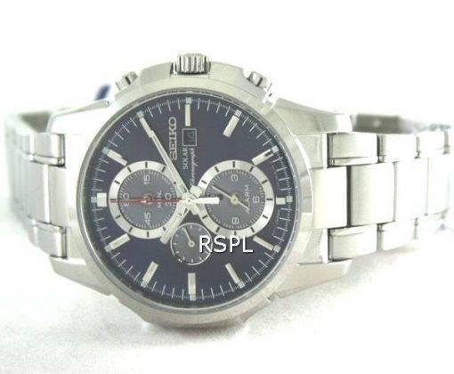 Seiko solaire alarme chronographe SSC085P1 SSC085P SSC085