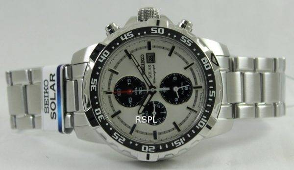Seiko Solar Alarm Chronograph SSC297P1 SSC297P SSC297 Mens Watch