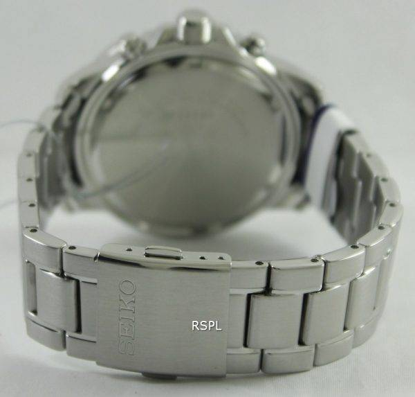 Seiko Solar Alarm Chronograph SSC299P1 SSC299P SSC299 Mens Watch