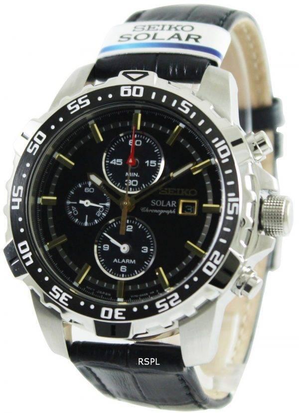 Seiko Solar Alarm Chronograph SSC303P1 SSC303P SSC303 Mens Watch