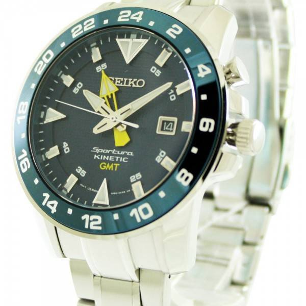 montre seiko sportura kinetic gmt sun017p1 sun017p masculin france. Black Bedroom Furniture Sets. Home Design Ideas