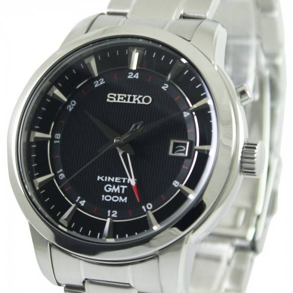 montre seiko kinetic gmt sun033p1 sun033p hommes france. Black Bedroom Furniture Sets. Home Design Ideas