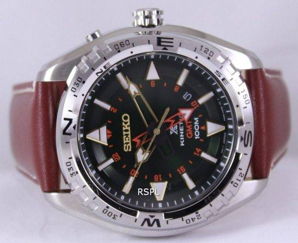 Seiko Prospex Land Kinetic GMT 100M SUN051P1 SUN051P Mens Watch