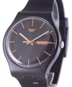 Swatch Originals foncé Rebel Quartz Suisse SUOB704 unisexe