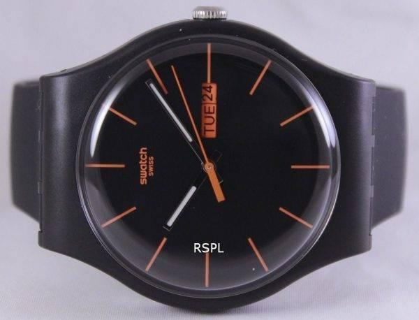 Swatch Originals foncé Rebel Quartz Suisse SUOB704 unisexe