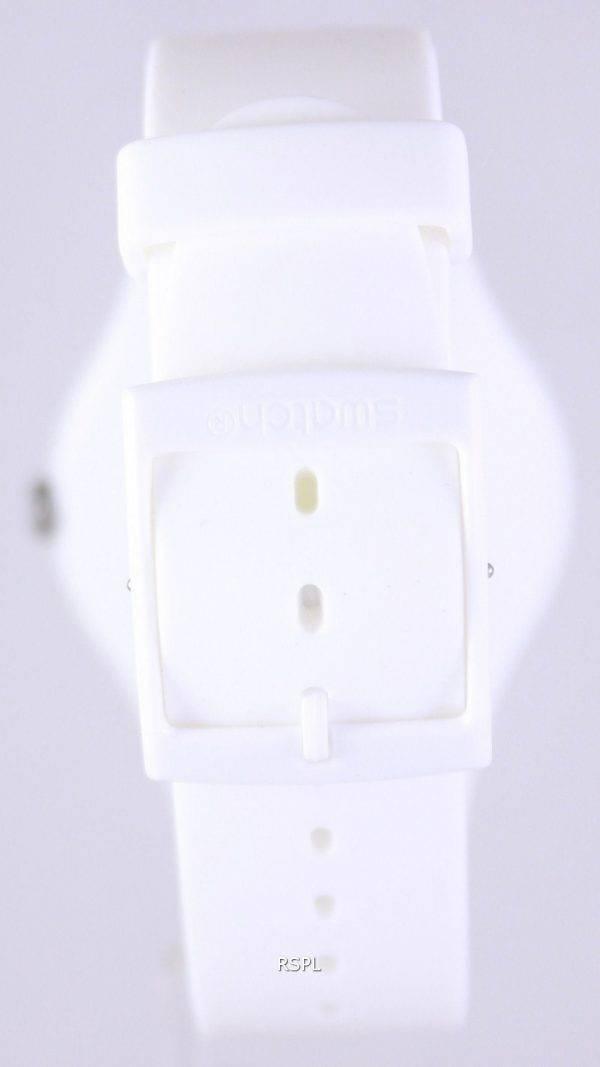 Swatch Originals Laqué Blanc Quartz Suisse SUOW100 unisexe