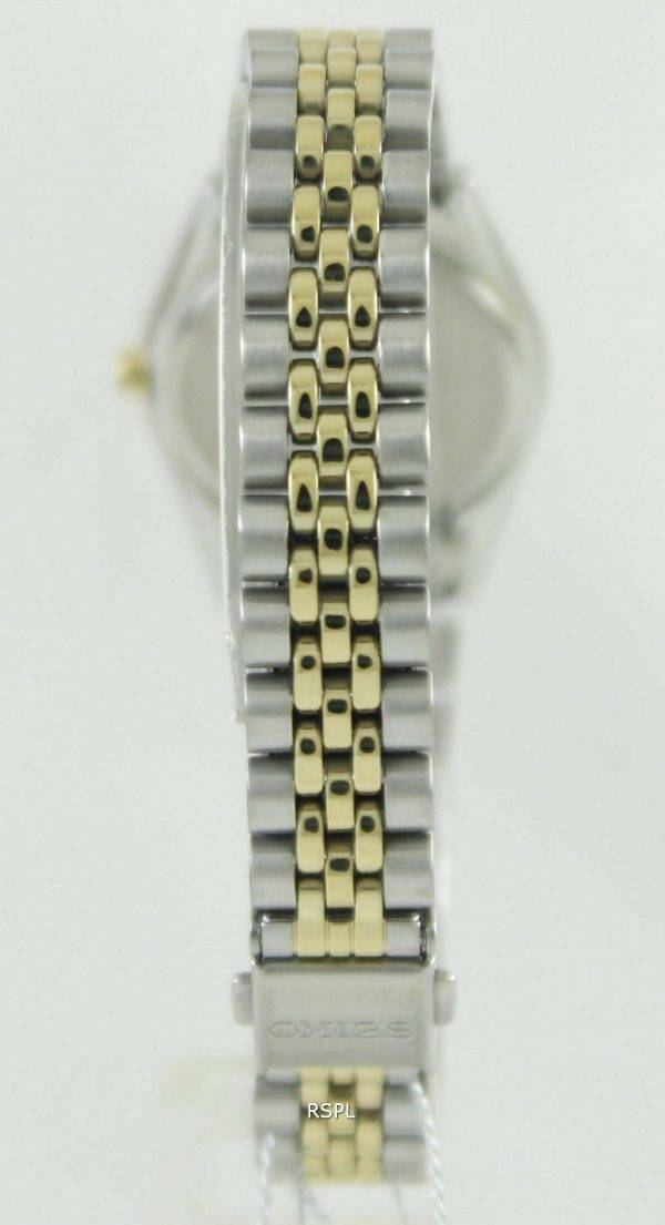 Seiko Solar Two Tone Swarovski Crystals SUP094P1 SUP094P Womens Watch
