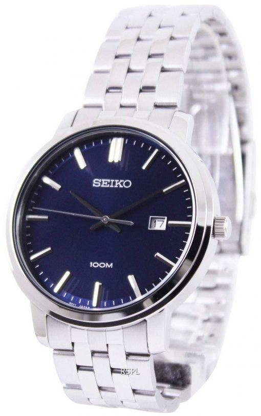 Seiko Quartz Blue Dial SUR107P1 SUR107P Mens Watch