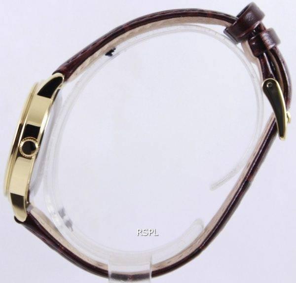 Seiko Quartz Leather Strap SUR822P1 SUR822P Womens Watch