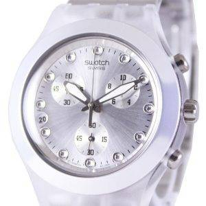 Swatch Irony Diaphane Full-Blooded Argent Chronographe SVCK4038G unisexe