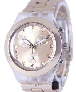 Swatch Irony Diaphane Full-Blooded Caramel Chronographe SVCK4047AG unisexe