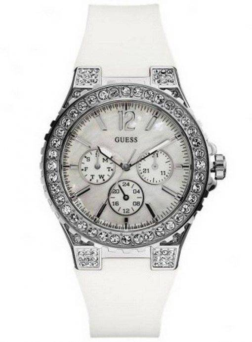 Quartz cristal blanc U12653L1 Womens montre Guess