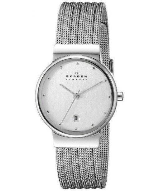 Montre Skagen Silver Tone maille Bracelet 355SSS1 féminin