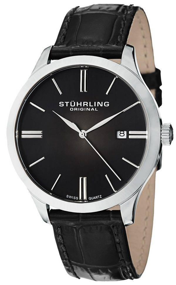 Stührling Original Cuvette classique II Swiss Quartz Date affichage 490.33151 montre homme