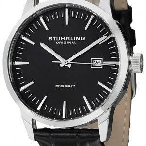 Stührling Original classique Ascot 42 Swiss Quartz Date affichage 555A.01 montre homme