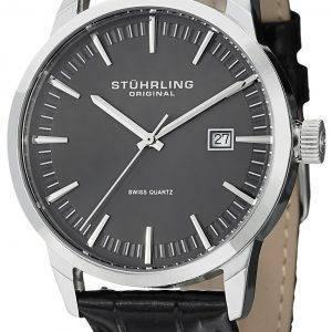 Stührling Original classique Ascot 42 Swiss Quartz Date affichage 555A.02 montre homme