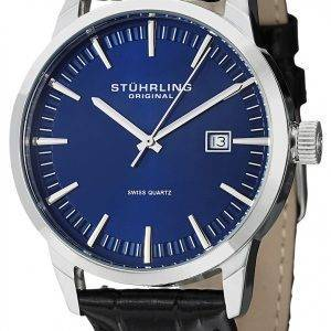Stührling Original classique Ascot 42 Swiss Quartz Date affichage 555A.04 montre homme