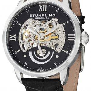 Stührling Original II Executive automatique cadran squelette noir 574.02 montre homme