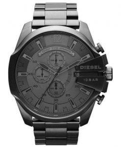 Diesel Mega chef Quartz chronographe cadran gris noir IP DZ4282 montre homme