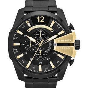 Diesel Mega chef Quartz chronographe cadran noir noir IP DZ4338 montre homme