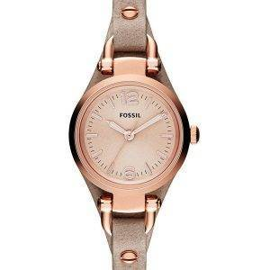 Fossiles Géorgie Mini Rose sable cuir sangle ES3262 Women Watch Dial