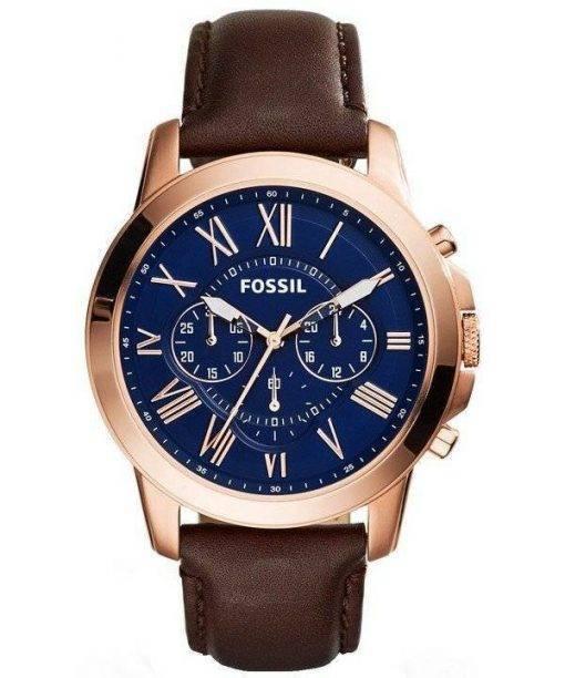 Accorder des fossiles montre chronographe Rose doré FS5068 masculin