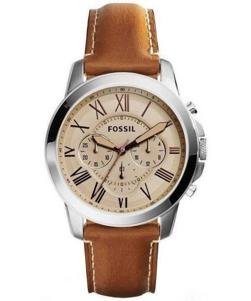 Accorder des fossiles montre chronographe en cuir FS5118 masculin