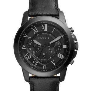 Accorder des fossiles montre chronographe en cuir noir FS5132 masculin