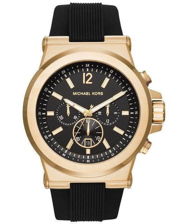 Michael Kors Dylan Black cadran chronographe MK8445 montre homme