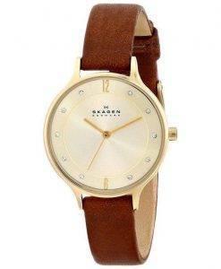 Skagen Anita cadran or brun cuir cristallisé SKW2147 Women Watch