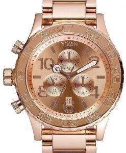 Nixon chronographe à Quartz Rose plaqué or 200M A037-897-00 montre homme